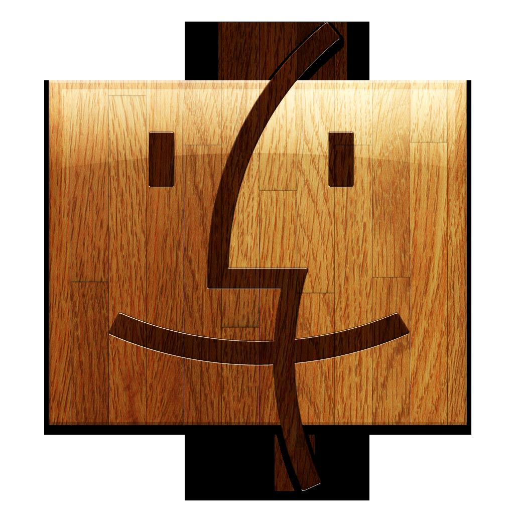 wooden finder 木制查找图标下载