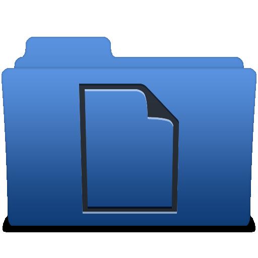 顺利深蓝色文件1 图标免费下载, smooth navy blue  1