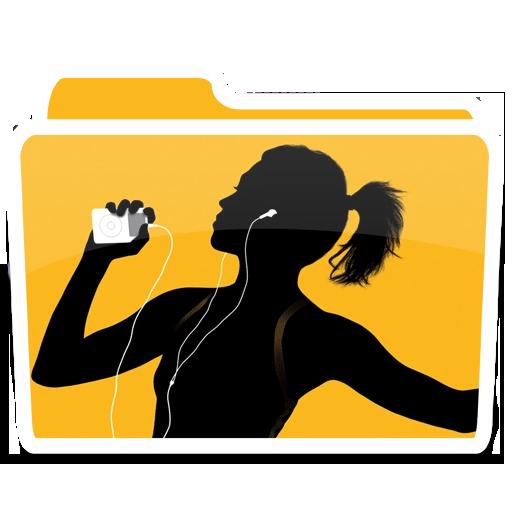 白色音乐的ipod 01 图标免费下载