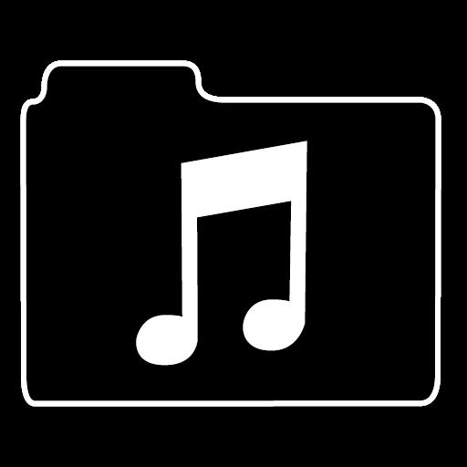 不透明文件夹音乐图标免费下载, opacity folder 图标