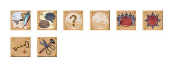 木制风格网络图标专辑 (wooden web icon)