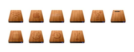 木制slick硬盘图标专辑