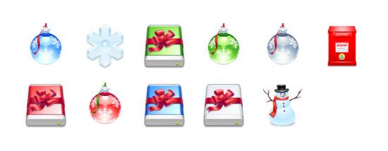 苹果系统圣诞节图标专辑