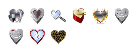 心形系统图标专辑 (hearts icon)